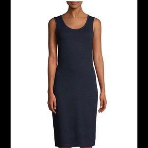 St. John Santana Knit Sleeveless Fitted Dress